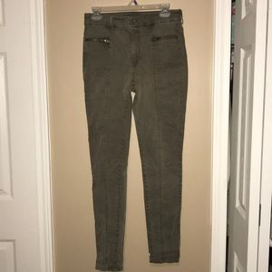 Army green high rise Jegging